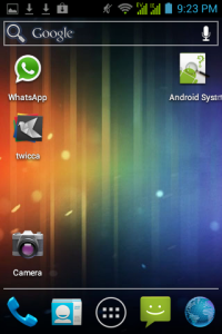 other wallpaper + installed apps shortcut