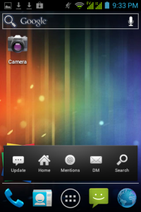 Home screen dengan widget twicca