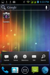 Home screen dengan widget twicca